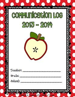 Teaching with a Touch of Twang: Parent Communication Log - FREEBIE