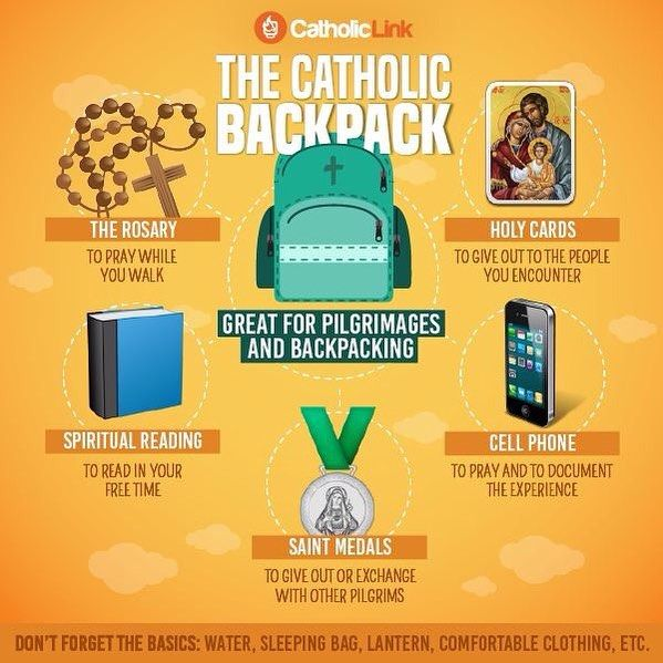 The World Youth Day is just around the corner. Because of this we prepared a simple guide of items that every Catholic should carry in their backpack during a pilgrimage or apostolic trip. Share this and tell us: Which item would you add to the list?  by catholiclink_en