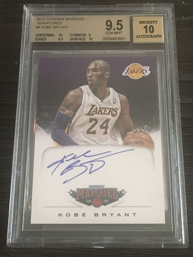 Kobe Bryant 2012-13 Panini Marquee Signatures BGS 9.5 w/ 10 and 10 auto # 4