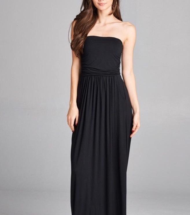 Tube Maxi Dress - Black