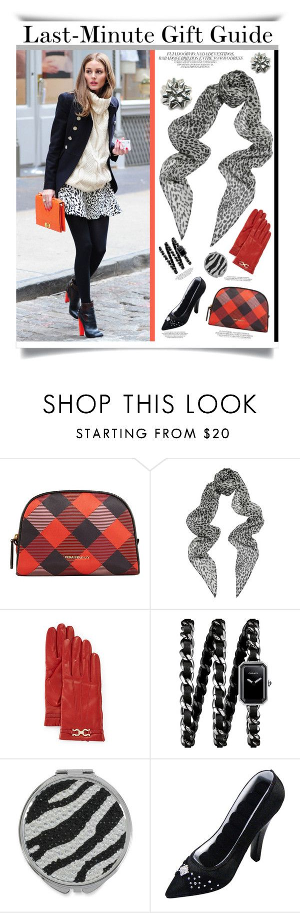"""""""Last-Minute Gift Ideas'"""" by dianefantasy ❤ liked on Polyvore featuring Vera Bradley, Yves Saint Laurent, Salvatore Ferragamo, Chanel, Betsey Johnson, polyvoreeditorial and lastminutegifts"""