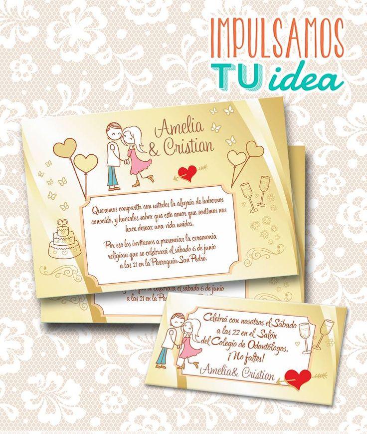 Tarjeta de Boda para imprimir Invitación y Personal A y C Ideas para Invitaciones de Bodas