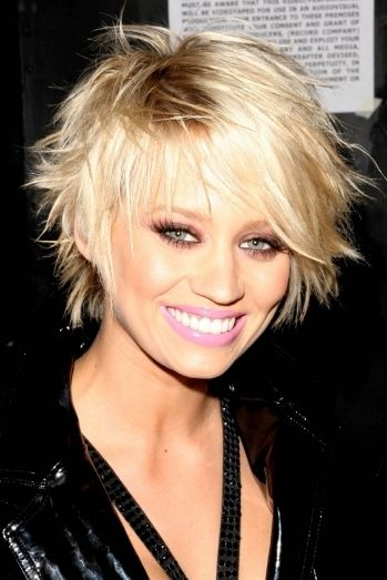 Short, messy and blonde.  i can never get my hair to look like this....but i want it too.