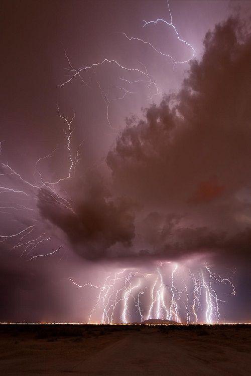 Barrage by MikeOlbinski. Purple storm