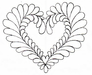 feathered heart quilt template