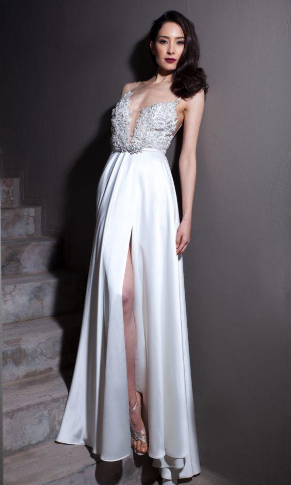 Rebecca slinky wedding dress, Anna Georgina #weddingdress