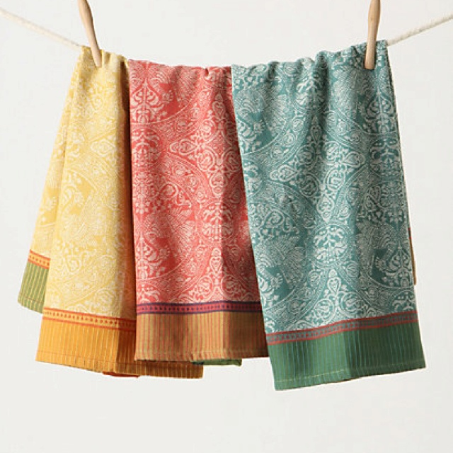Anthropologie dish towels.