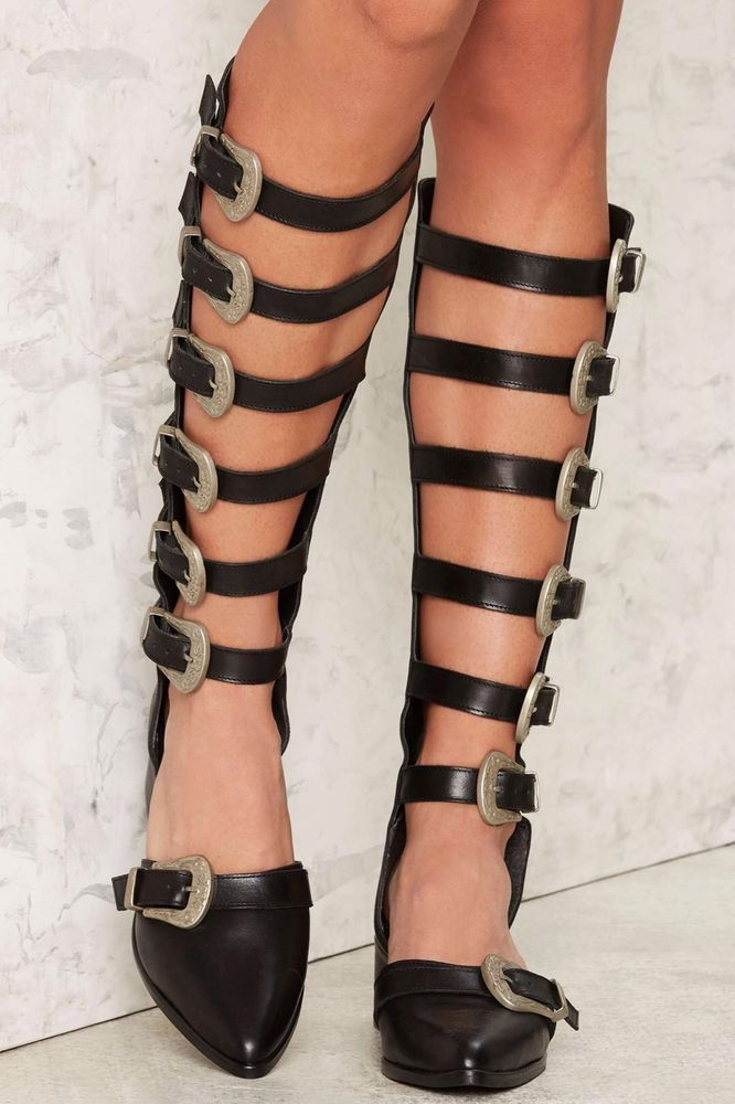 New Nasty Gal Up To No Good Cut Out Gladiator Boot  EU 39 / 8.5 - 9 Women's    eBay