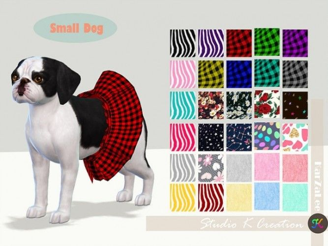 Small Dog Dress N2 Acc By Studio K Creation For The Sims 4 With Images Sims 4 Pets Mod Sims 4 Pets Sims Pets