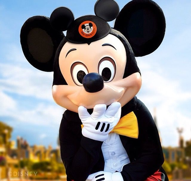 Mickey Mouse with has cute little hat go Mickey Mouse club