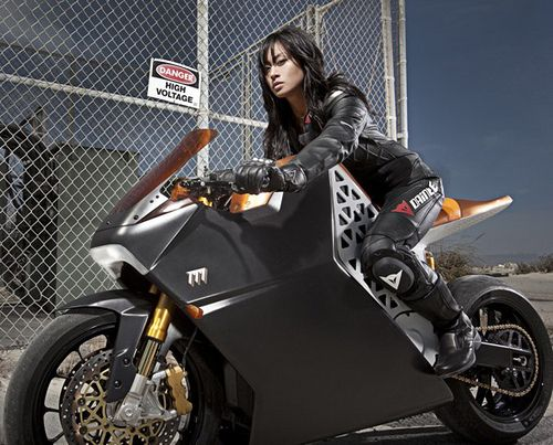 Motorcycle Girl by tobass, via Flickr