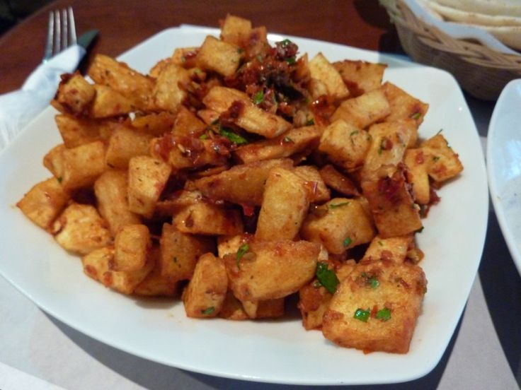 Spicy Potatoes  - This dish is a popular street food snack in Cairo, Egypt, but they make a great side dish anywhere.