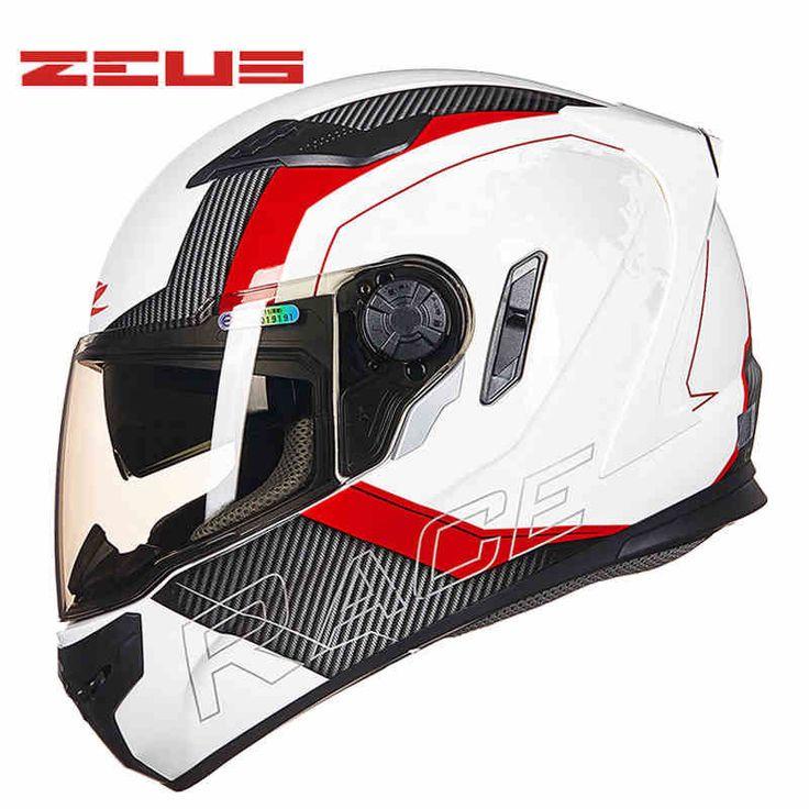 Taiwan ZEUS ZS-813 motorcycle helmet PC Dual visor motorbike racing bicycle helmets four seasons for men/women M L XL XXL ** AliExpress Affiliate's buyable pin. Click the image for detailed description on www.aliexpress.com