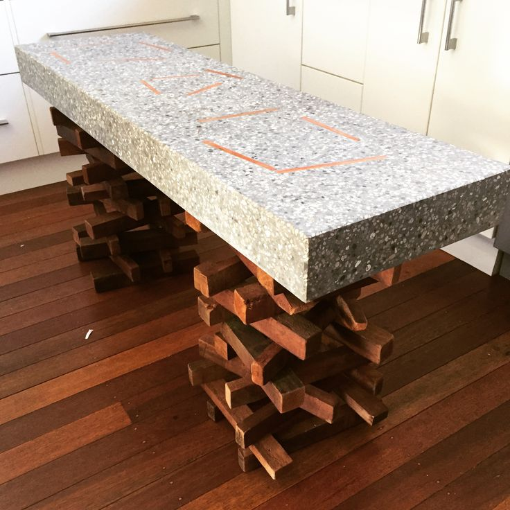 Polished concrete (gfrc) cake table