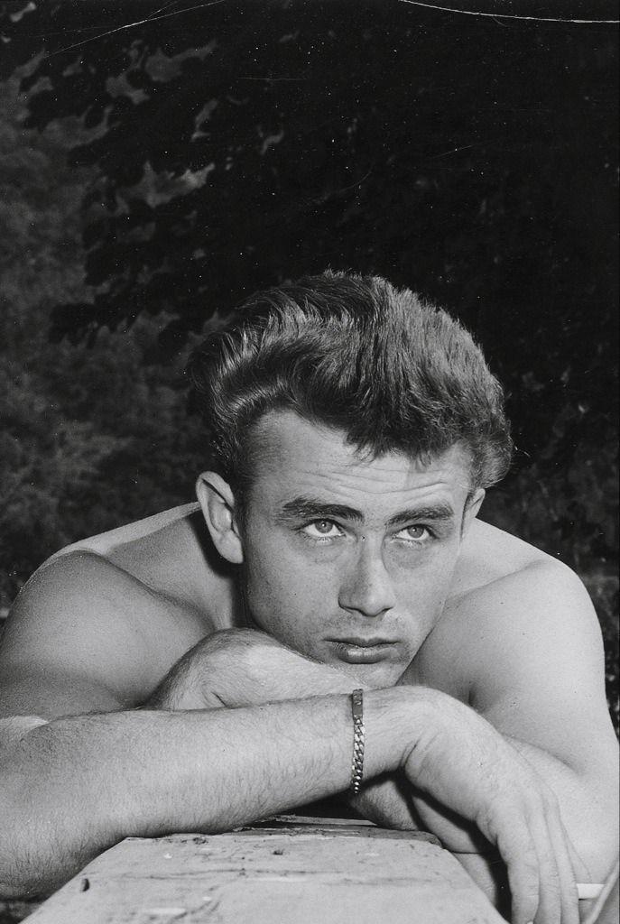 James Dean on the set of EAST OF EDEN (1955)