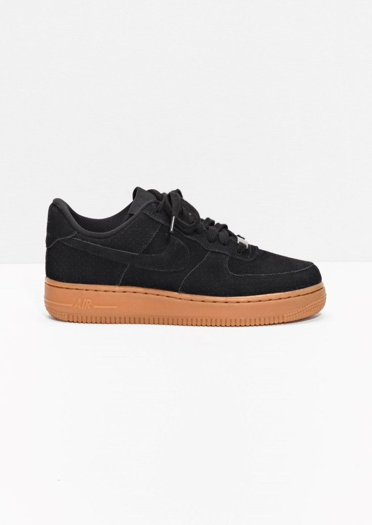 Nike Air Force 1 Low 07 Suede Black/Gum