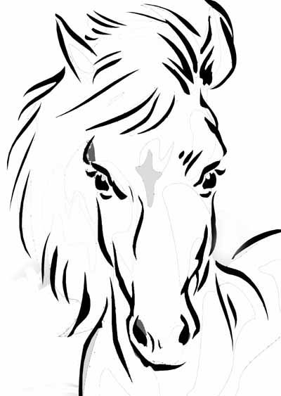 horse face coloring pages - photo#16