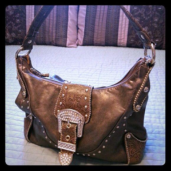 Kathy Van Zeeland western bling purse Crystal buckle. Very good used condition Kathy Van Zeeland Bags