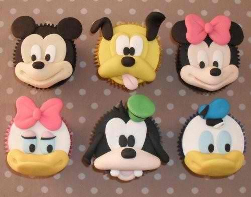 Disney character cupcakes.