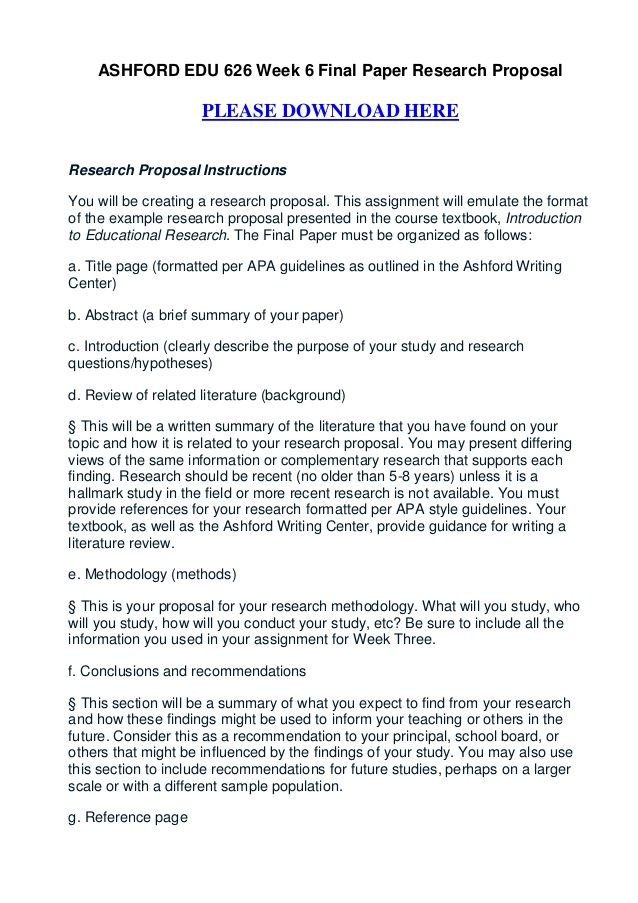 research study paper format
