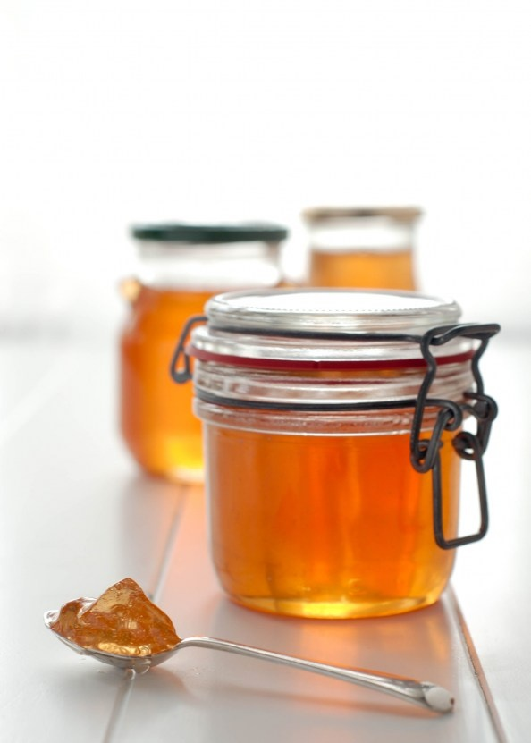 A good way to use up windfall pears: Pear Jelly on things{we}make.