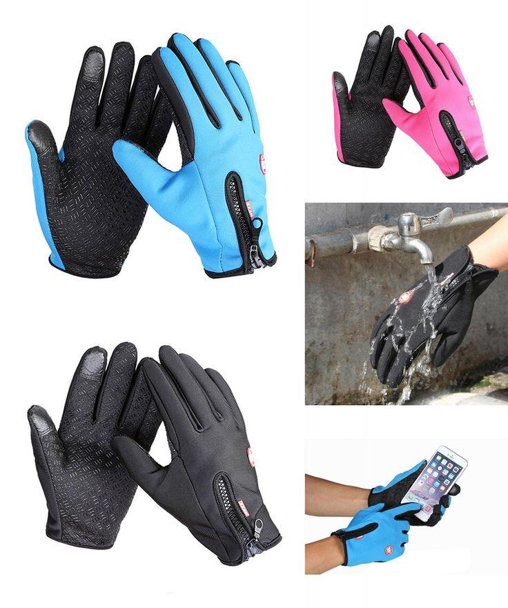 [Visit to Buy] Winter Sports Ski Snow Gloves  Screen head snowboard Motorcycle Cycling Men Women kids skiing Driving leather Waterproof  #Advertisement