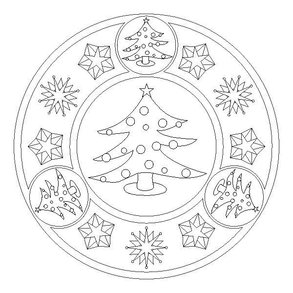 winter coloring pages mandala - photo#25