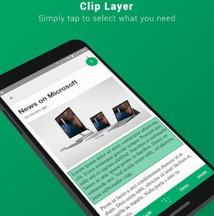 Microsoft App Clip Layer Simplifies Text Copy Paste Problem
