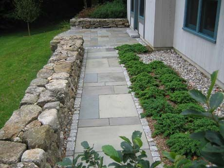 Create An Inviting Entrance With Dynamic Curb Appeal. Full Color Pattern  Bluestone, Granite Edging · Garden PavingPaving IdeasStone ...