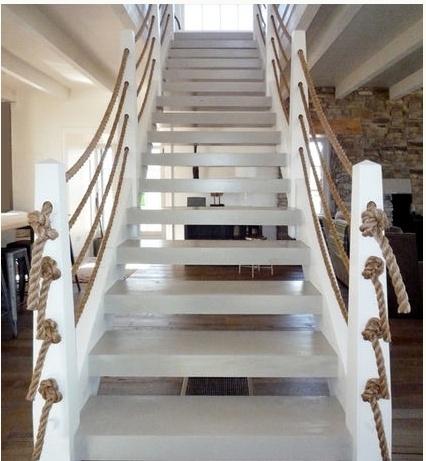 Nautical Rope Staircase Railings! Fab.