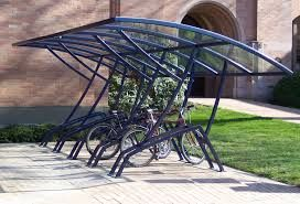 """Velodome Shelters offers both 2-3/8"""" round channel and 2"""" square tube U-racks for greatest security.   http://velodomeshelters.com"""