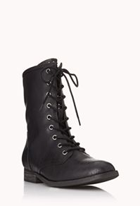 These Forever 21 combat boots are a great edgy alternative to other boot looks for the fall.