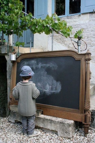 Repurpose old mirrors! Just paint with blackboard paint!! Viola‼