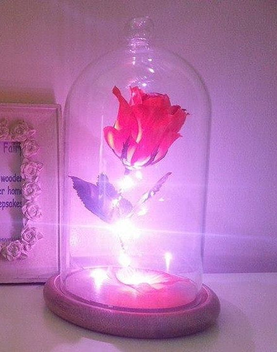 Beauty And The Beast Enchanted Rose valentines A handmade replica of the beast`s Enchanted Rose with removable lid. This beautiful Enchanted Rose come…