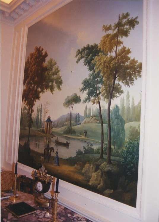 24 best grisaille images on pinterest wall murals wall - Decor papier peint mural ...