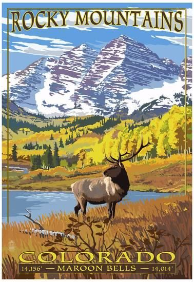 Maroon Bells - Rocky Mountain National Park Poster at AllPosters.com