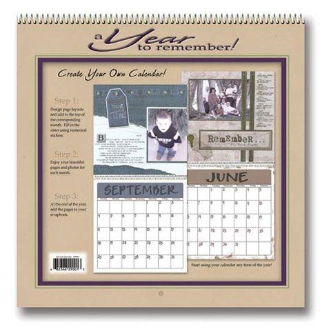 Create Your Own Scrapbook Calendar 12 - how to create your own calendar