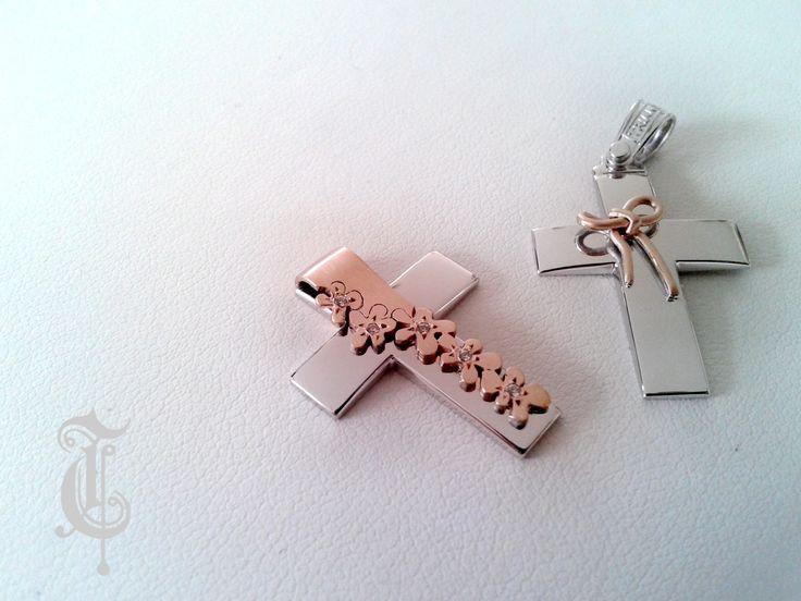 σταυροί βάπτισης, βαπτιστικοί σταυροί Τριάντος, gold crosses jewelry, www.triantos.gr