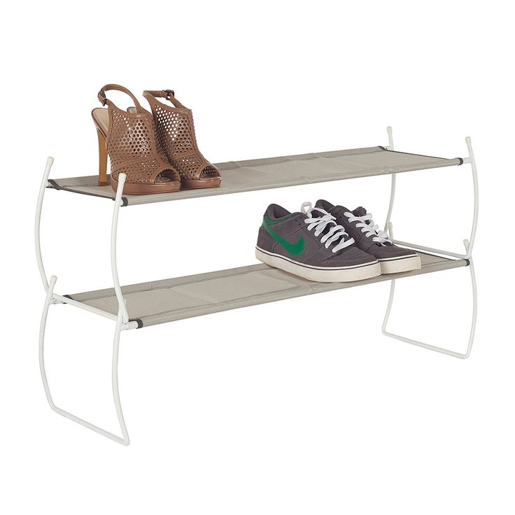 Howards Storage World Imelda Shoe Rack Set Of 2 White