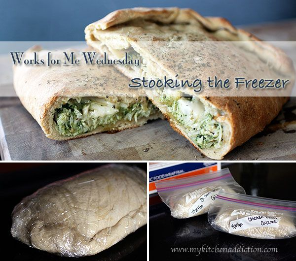 Chicken Pesto Calzones + Stocking the Freezer (WFMW) | my kitchen addiction