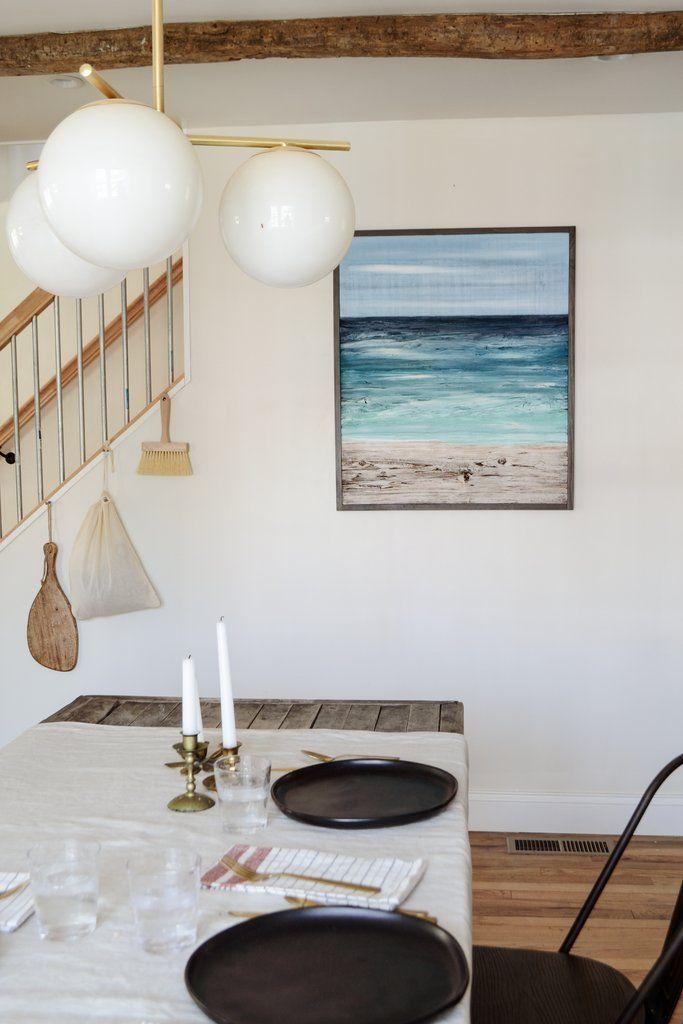 new ocean paintings dining room beach house decor wood home decor rh pinterest com
