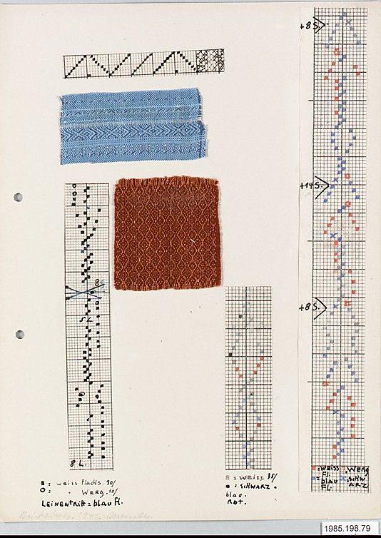 motifs et échantillons textiles : Bauhaus, Margarete Willers, femmes artistes allemande, papier millimétré
