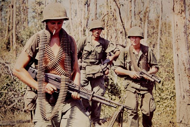 """These images usually sit in a box untouched or viewed,"" says photo editor Kendra Rennick, who has spent hours poring over and dusting off the slides that lie tucked away, hidden somewhere in the houses of Vietnam War Veterans. These images are the ones the photojournalists missed, the ones that never made it to the Associated Press; they're the pictures soldiers took while overseas, palling around with one another and venturing into the neighborhoods that surrounded them."