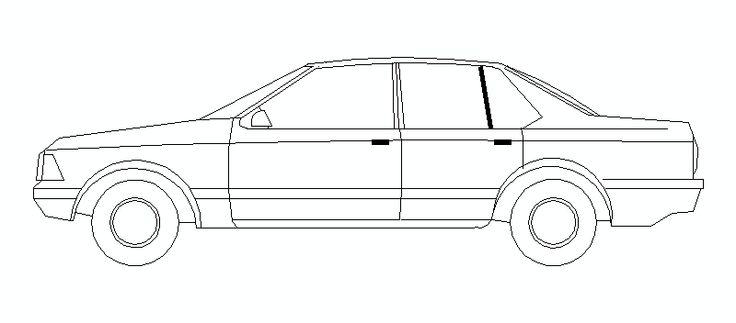 coche en alzado lateral, 02