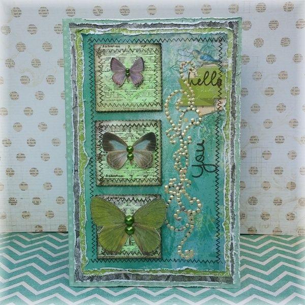 Hello You Card **BoBunny** - Scrapbook.com