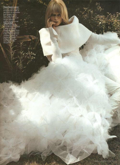 Julia Stegner in a wonderful Chanel chiffon dress.