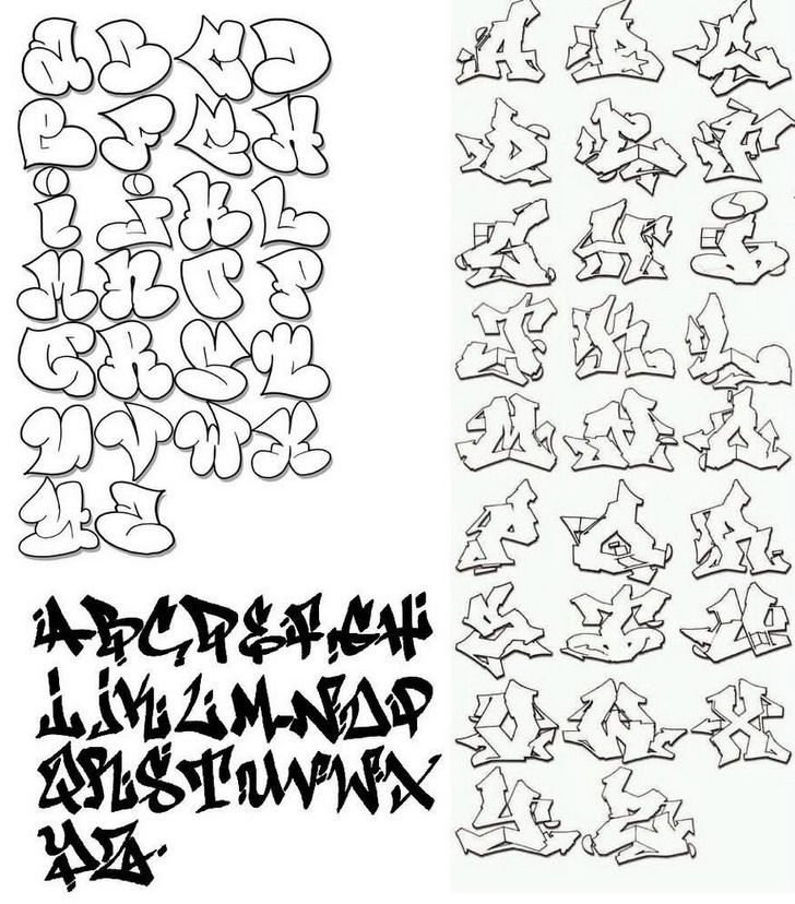 Alphabet Letters To Cut Out | Bubble Letter Alphabet