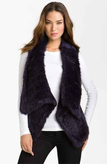 bebe Drape Front Rabbit Fur Vest | Nordstrom Luv to be able to get his!!