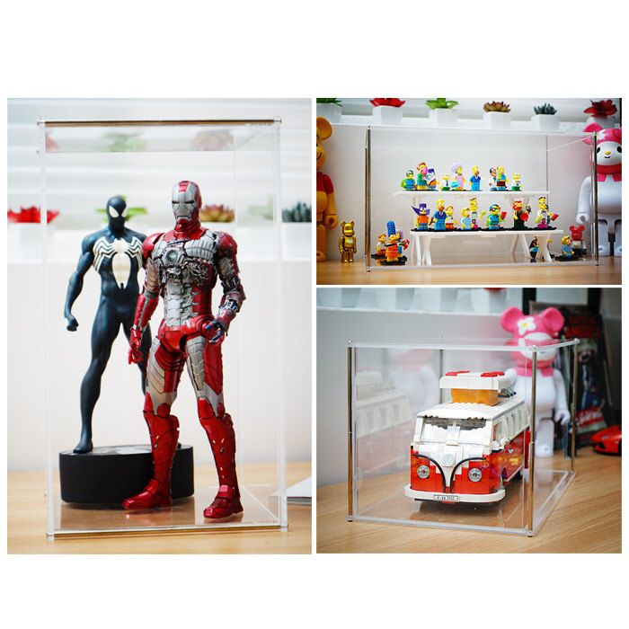 Top Display Case Transparent Acrylic Display Case For 12 Inch Bearbrick 400 Mini Figures Barbie Do Acrylic Display Case Plexiglass Sheets Acrylic Display