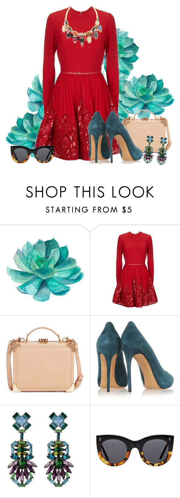"""""""★"""" by gabyidc ❤ liked on Polyvore featuring Elie Saab, Aspinal of London, Casadei, DANNIJO, Illesteva and Bijoux de Famille"""